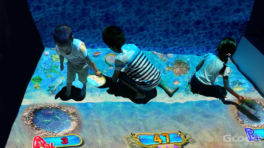 3D games interactive amusement park equipment children lointeractive floor projection games