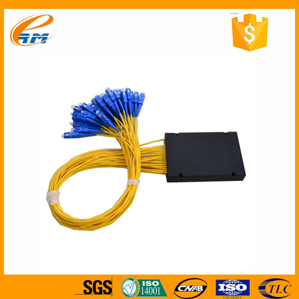 Passive Optic Network (PON) Components 2.0mm 1x32 Module/ABS Box Fiber Optic PLC Splitter for FTTH with SC/UPC Connector