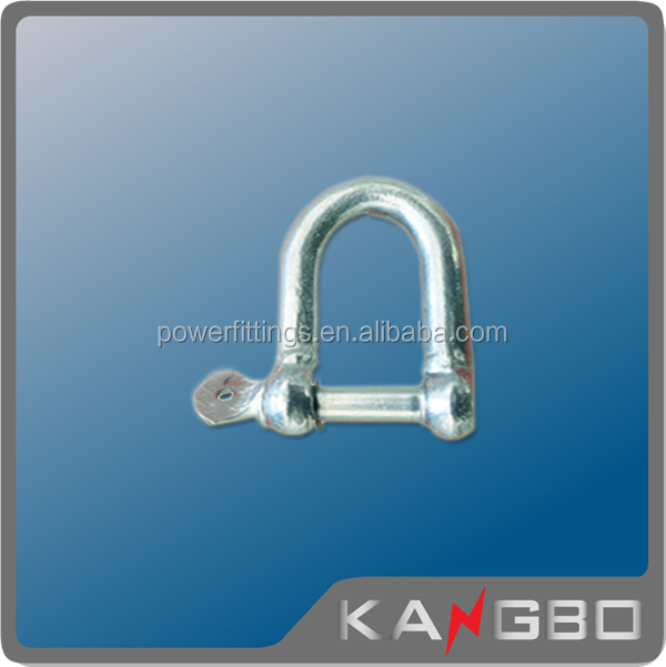 High quality rigging hardware US type forged pin D chain shackle suspension clamp assembly