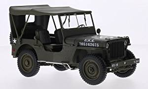 Jeep Willys, matt olivee, U.S. Army, Model Car, Ready-made, Welly 1:18 by Jeep