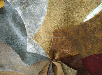 Riciclato pelle bovina con oro blocco tessuto per divani mobili