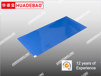 Clean step sticky mat for house hold Anti static,30 layers,Blue/White PE film