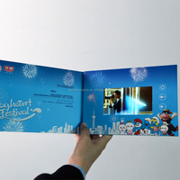 "Custom 4.3"" LCD Screen ODM/OEM Digital Invitation lcd Video Greeting Card for Promotion"