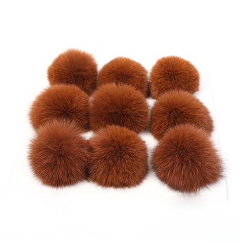 Christmas decoration natural fox fur ponpon animal fur ball bag charm pompoms garments accessories toys