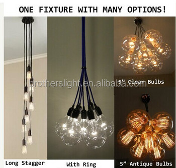 7 Cluster Custom Any Colors   Multi Pendant Chandelier Light Modern  Industrial Lighting Ceiling Fixture Copper