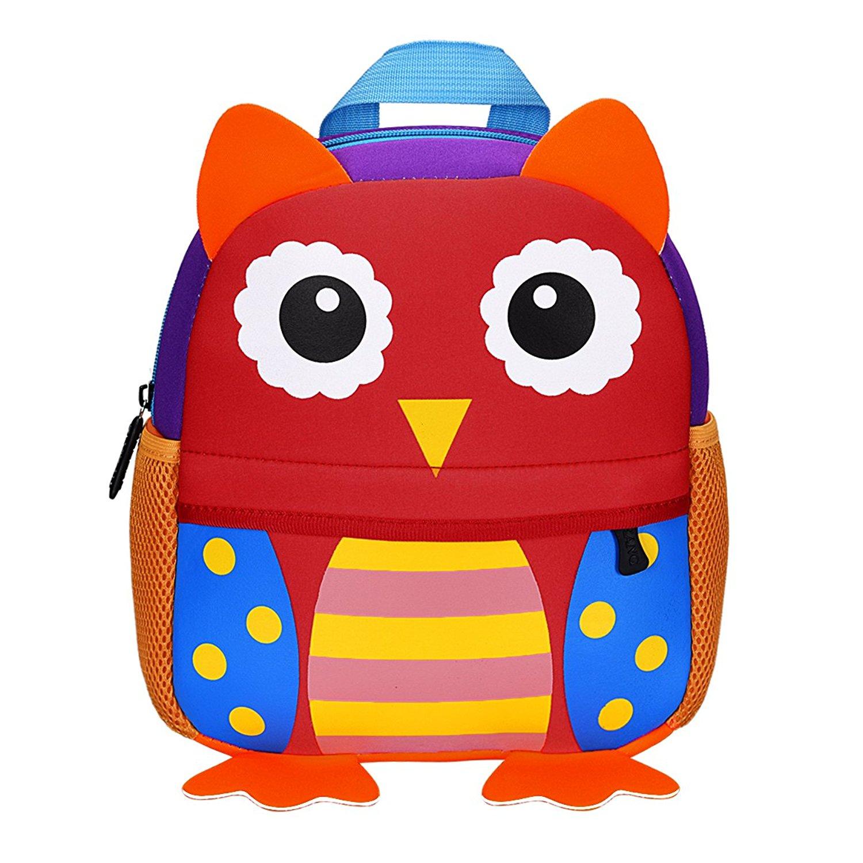 d4a5999fb349 Manleno Kids Backpack Cute 3D Animal Baby Boys Girls Toddler Backpack for  Preschool