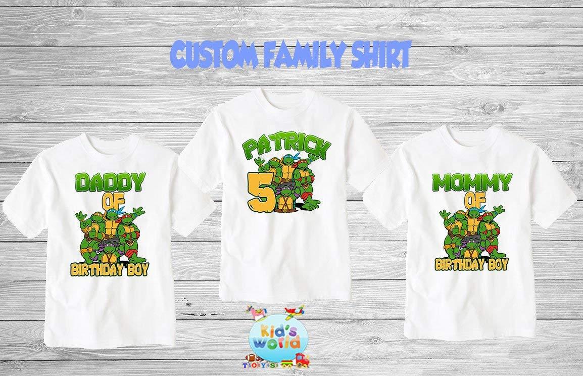 4ad2d6da2 Get Quotations · TMNT Birthday Shirt, Custom Ninja Turtles Birthday Shirt, Personalized  Ninja Turtles Apparel,Custom