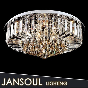 Modern Home Decor Ceiling Chandelier Low Ceiling Crystal Flat Lighting  Fixture From China Supplier