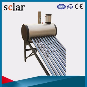 Wholesale non pressure solar hot water heating system, solar water geyser, solar water heater with assistant tank