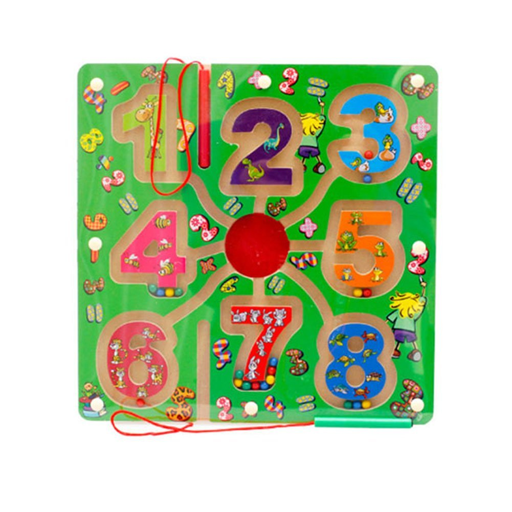 Redcolourful Children Magnetic Labyrinth Toys Interesting Magnetic Maze Toys for Boys and Girls 11.02 11.02 0.59 inch (Numbers)