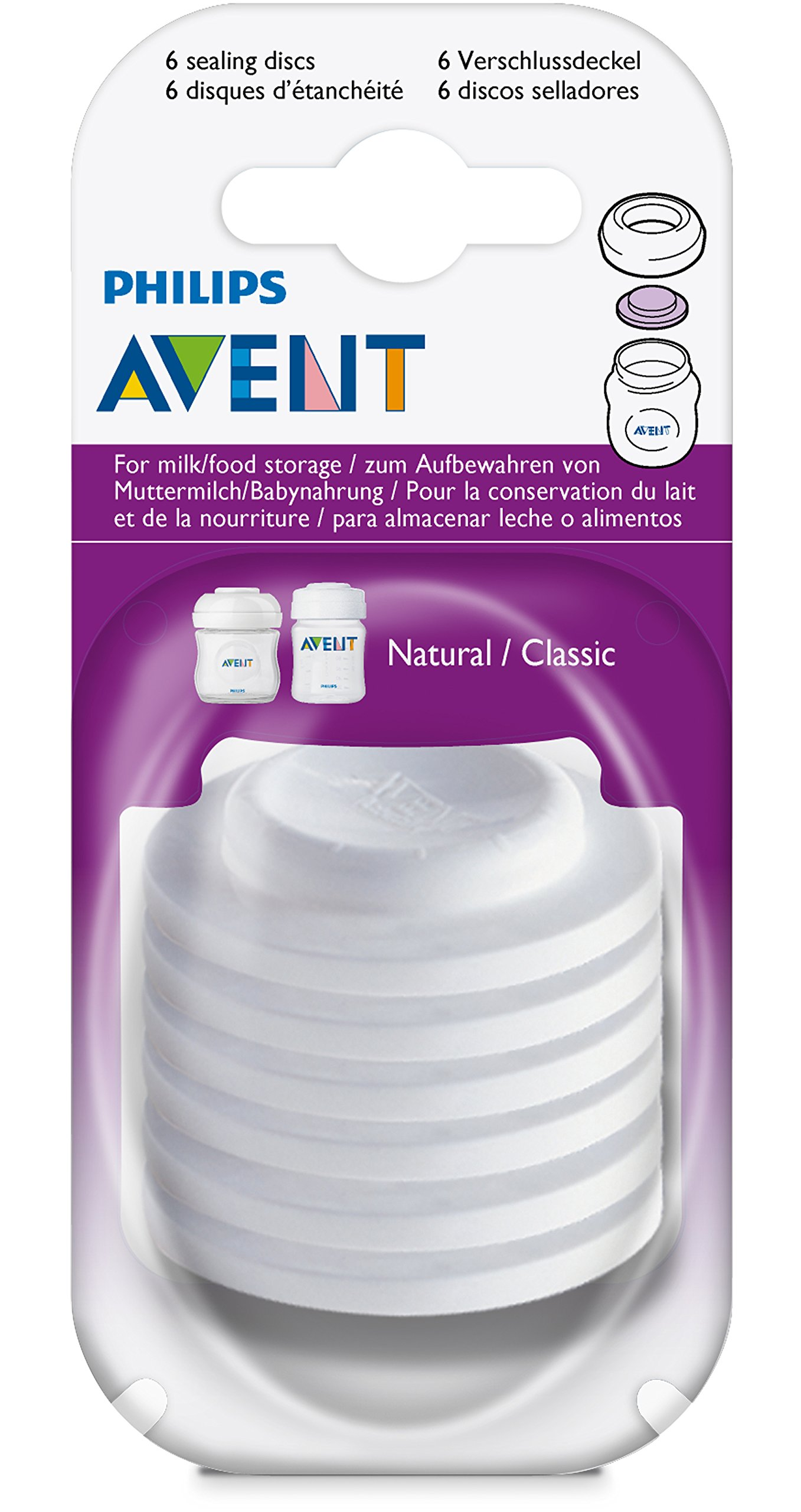 Philips AVENT BPA Free Classic Bottle (6 Sealing Discs)