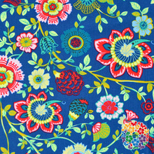 High Quality Navy Flower Pattern Canvas Fabric Printing Soft Cotton Fabrics Wholesale Fabric In China Factory