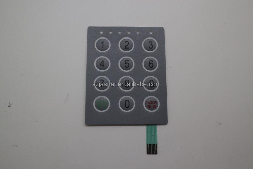 OEM embossed keys poly dome tactile silver flex membrane switch