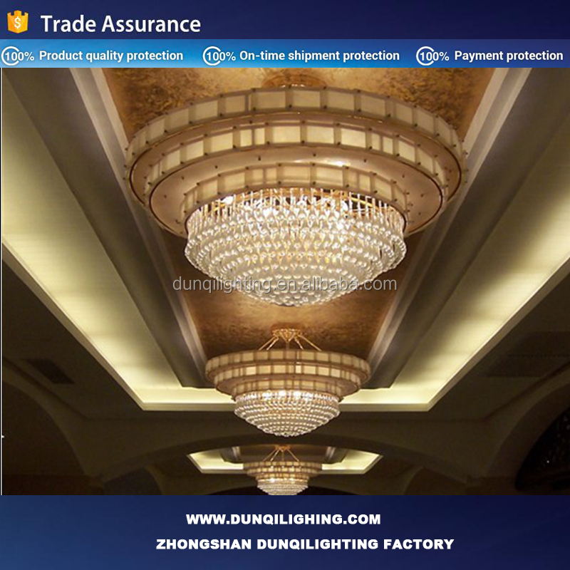Deep red shade crystal pendant chandelier for hotel project club villa