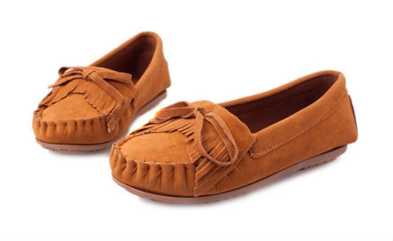 Real Suede leather upper comfortable cheap loafer shoes
