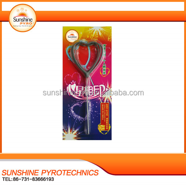 Sunshine Brand magic handheld birthday candle electronic stick heart sparkler fireworks