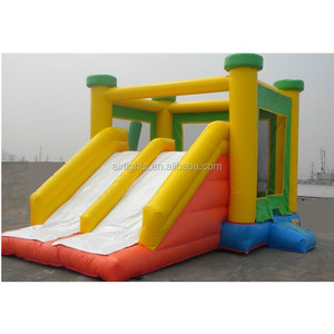 Durable kids inflatable playground cheap jumping castle with slide