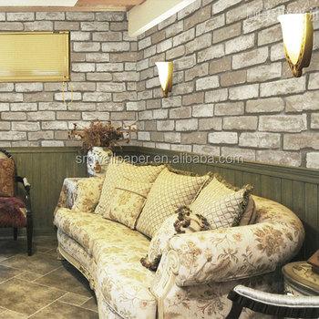 Classic Brick Wall Design Interior 3d Wallpaper Stickers For Home Decoration