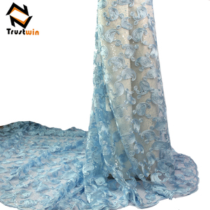 nigeria sequins tulle lace with beads onion lace fabric