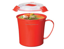 Plastic Microwave Food Cooker Soup Cup and container microwave soup steamer