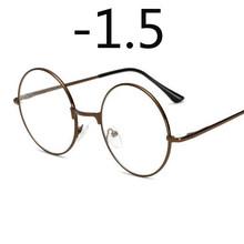 Круглые очки, женские и мужские очки, ретро очки для близорукости, оптические металлические оправы, прозрачные линзы, черные, серебристые, З...(Китай)