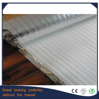 High Density Foam Laminate Floor Underlay Silver Buy High Density