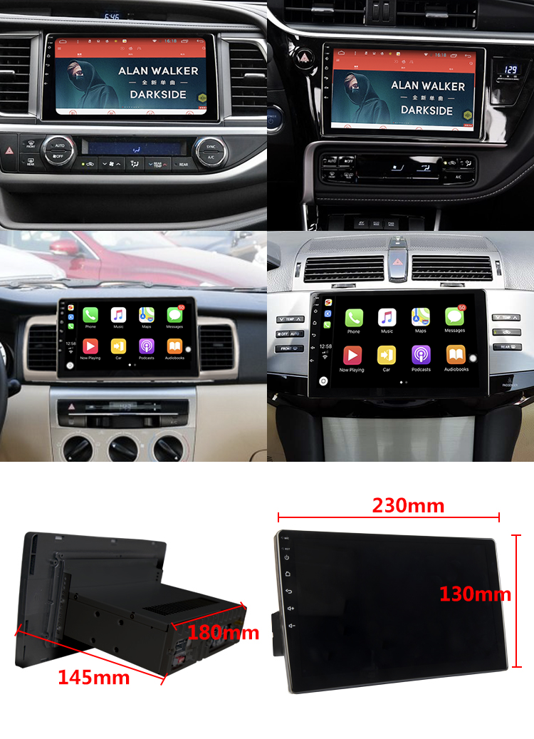 Touch screen Android 8.0  9 inch Car Stereo  Player for COROLLA/ Altis2007-2011