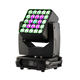 High popular dj lighting 4in1 5x5 rgbw led matrix panel zoom wash moving head light for stage