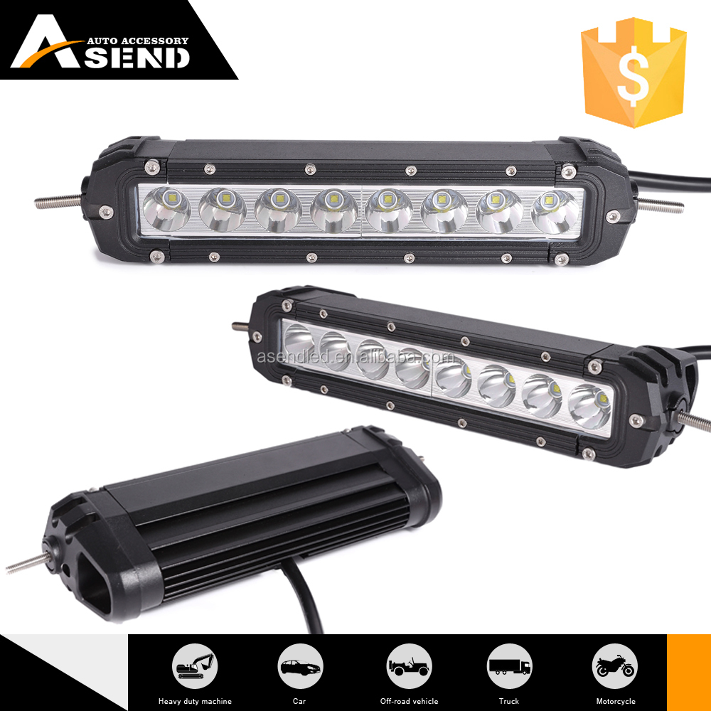 5w led light bar single row for 4x4 offroad 30w 2 mounting brackets on 2 sides, screws all around the housing