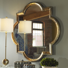 Fancy framed magnetic mirror stick on wall mirrors