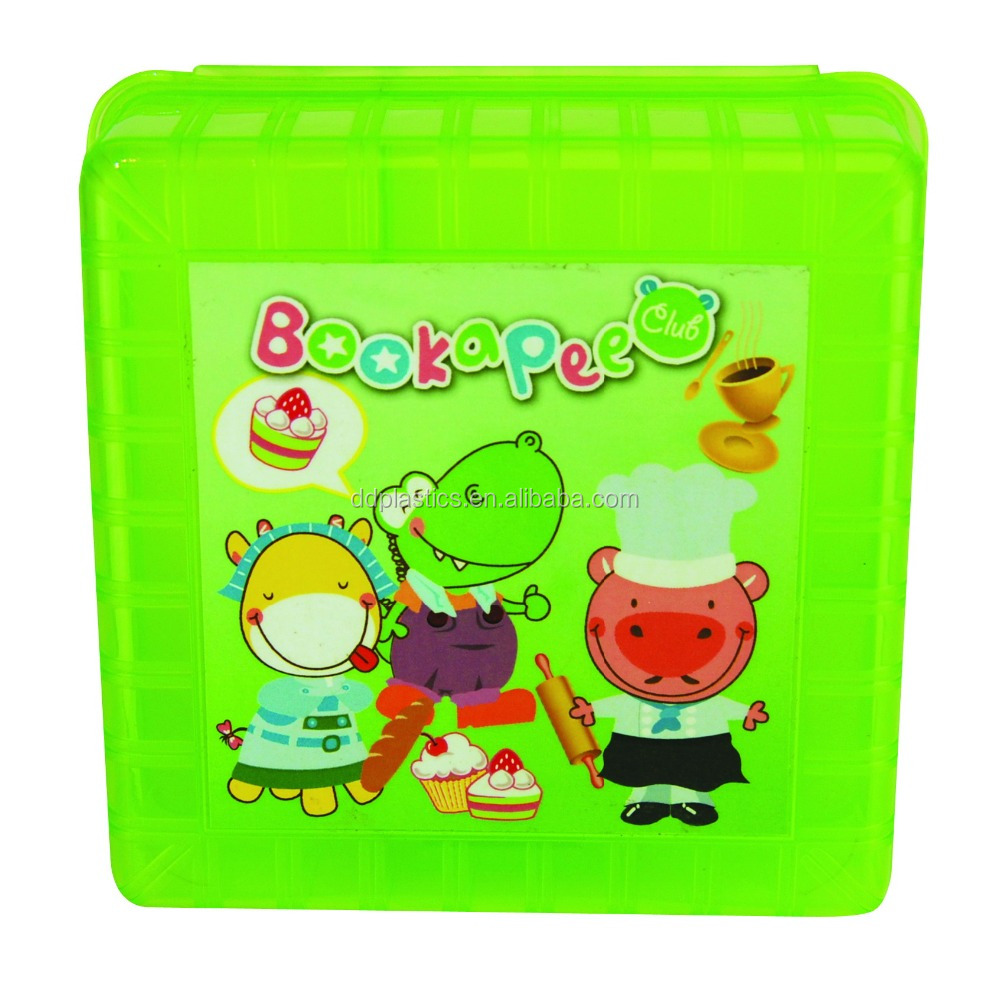 DD plastic square custom collapsible korean lunch box