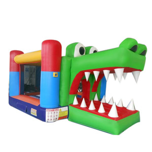 Inflatable Crocodile Bounce House Blower Castle Jumper Bouncer With Slide Inflatable Kids Air Jumper