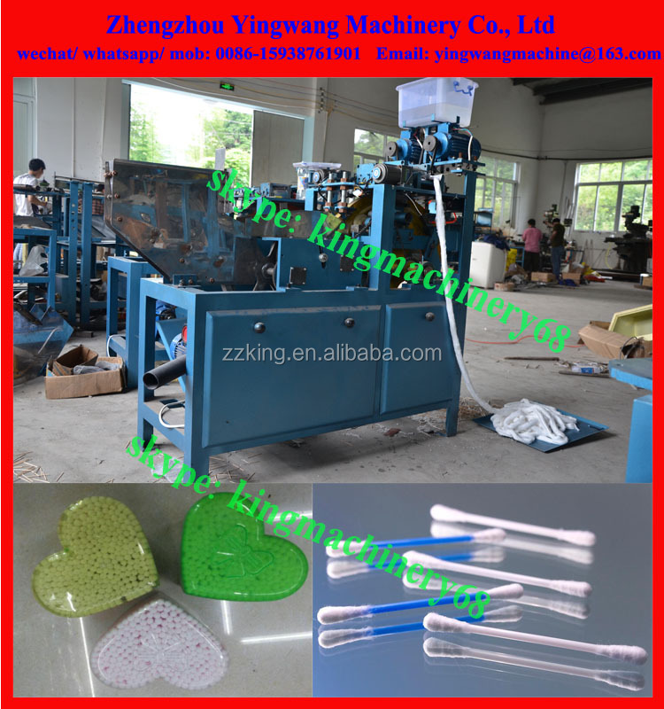 medical/ surgical cotton swabs making machine with drying and packing