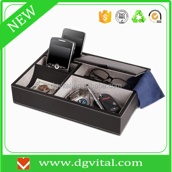 china suppliers Customized PU Leather Valet Tray for coin C02