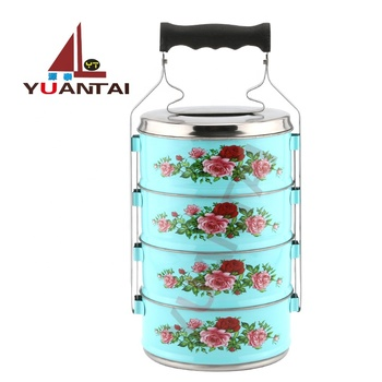 New style colorful stainless steel lunch box food container tiffin box of thermal food carrier
