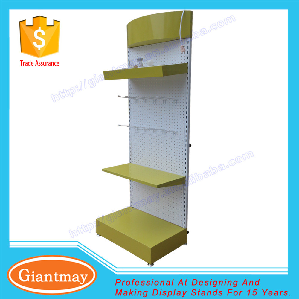lighting shops display shelve metal lamp stand for showcase