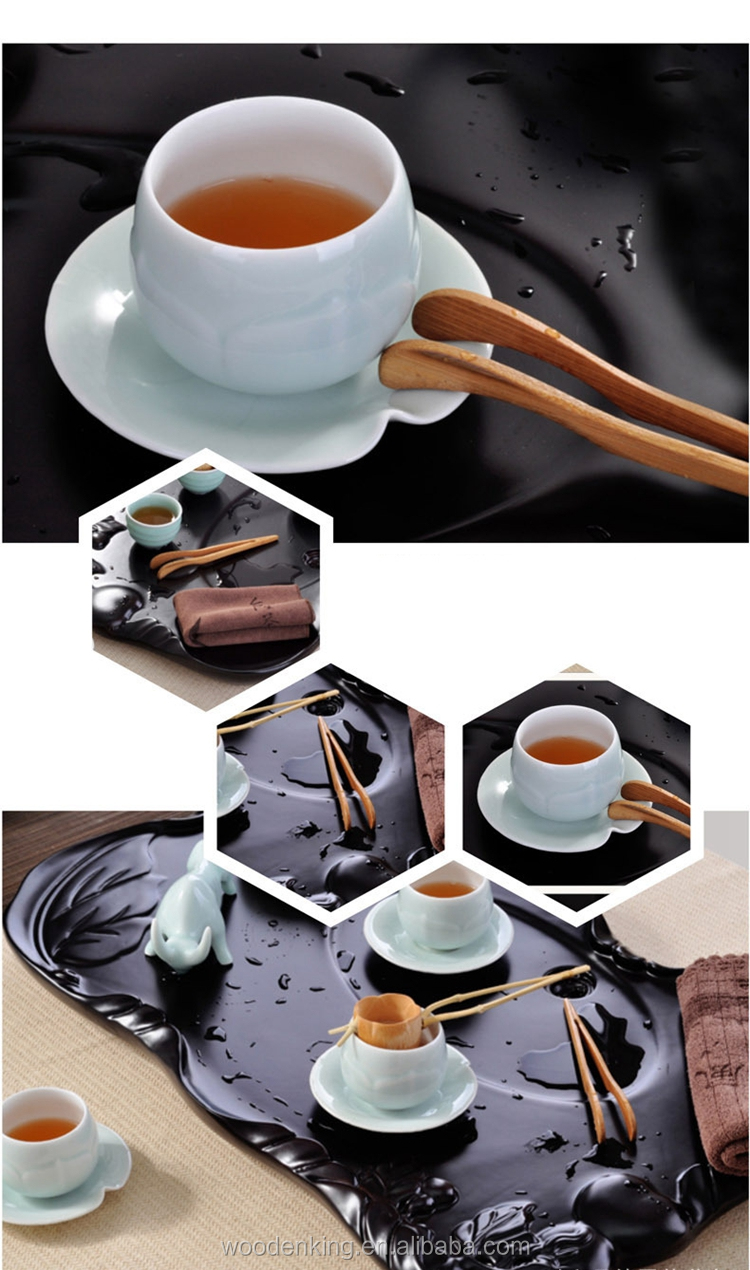 Creative Eco-Friendly Bamboo Tea Accessories Clips Custom Logo Table Tea Cup Holder Clip