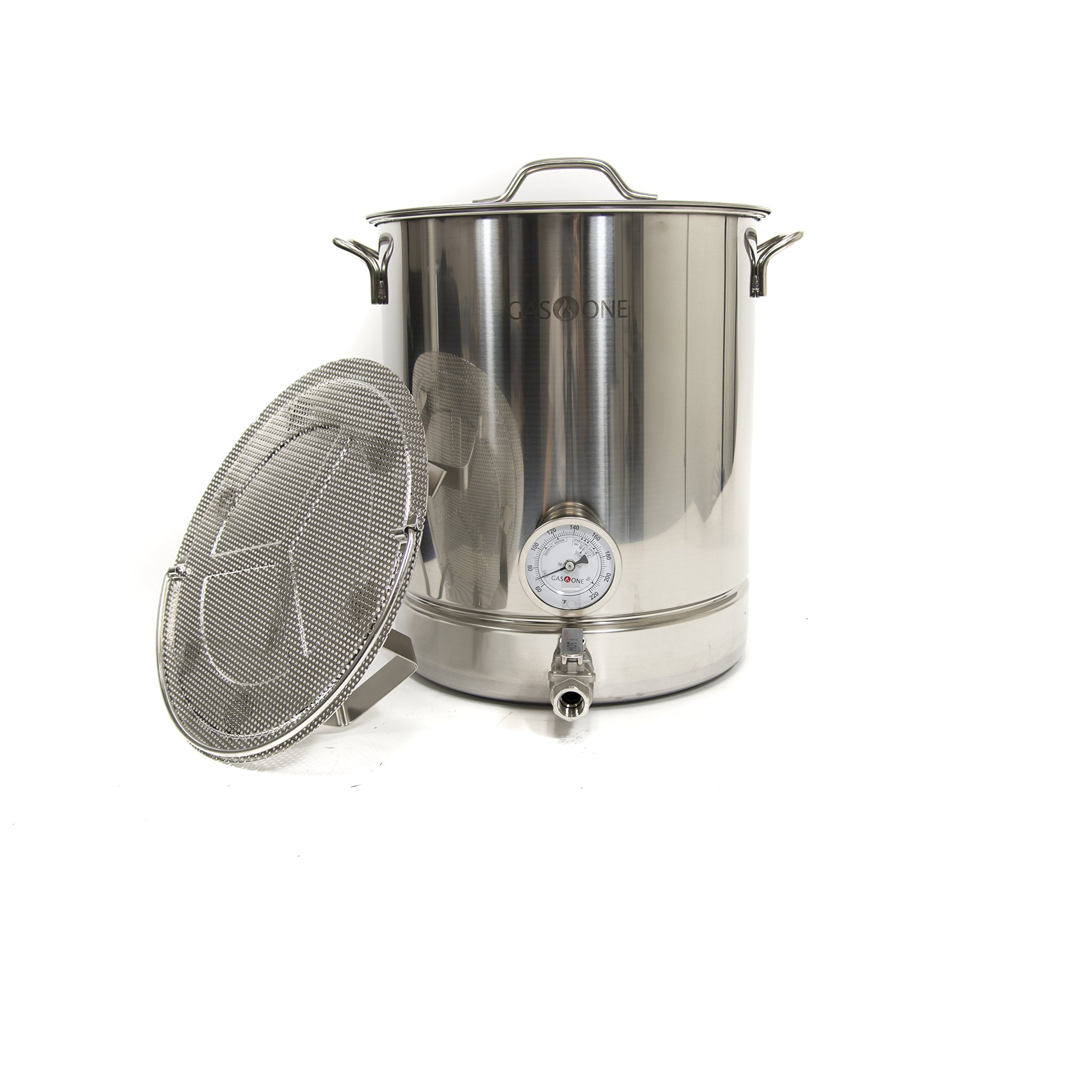 Get Quotations Gasone 10 Gallon Stainless Steel Home Brew Pot Kettle Set 40 Quart Tri Ply Bottom