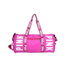 Fashion Ladies luggage Travel Bag Pink Sequins Weekend Shoulder Bag Portable  Large capacity waterproof Women Handbag a9511da56fbd7