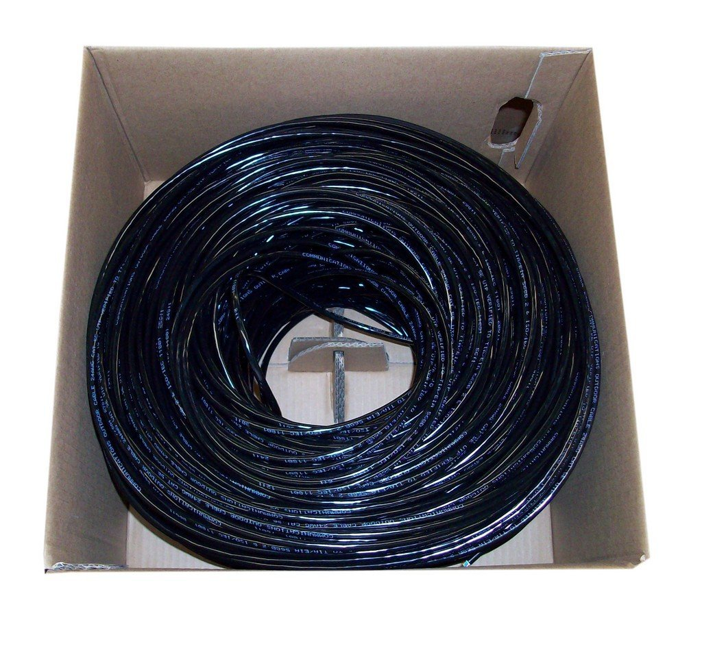 New 1,000 ft Cat6 Ethernet Cable / Wire 1,000ft Cat-6 Waterproof Outdoor / Direct Burial / Underground ~ VIVO (CABLE-V007)