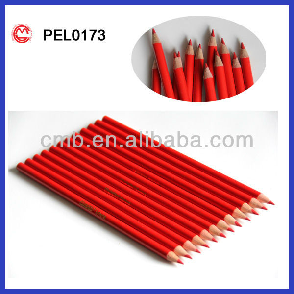 BULK OF WOODEN RED COLORED PENCILS