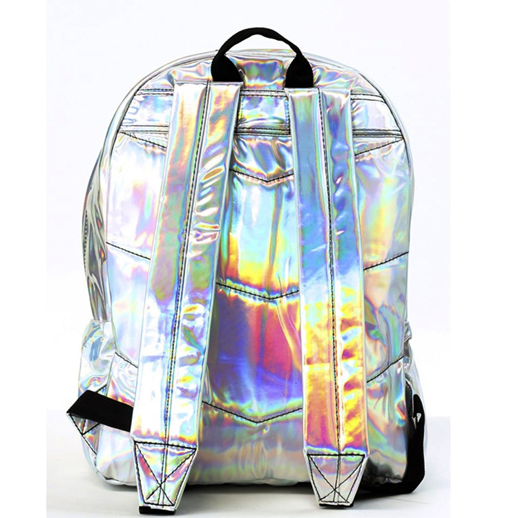 colorful Laser Holographic waterproof clear Reflective school bag for girls  hologram backpack  ladies backbags
