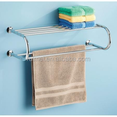 Wall-mounted Bathroom Rack Bathroom Shelf Wire Rack Towel Shelf