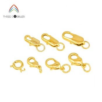 BR001 TOP Quality Gold Plated Jewelry Lobster Claw Clasp Findings for Jewelry Making