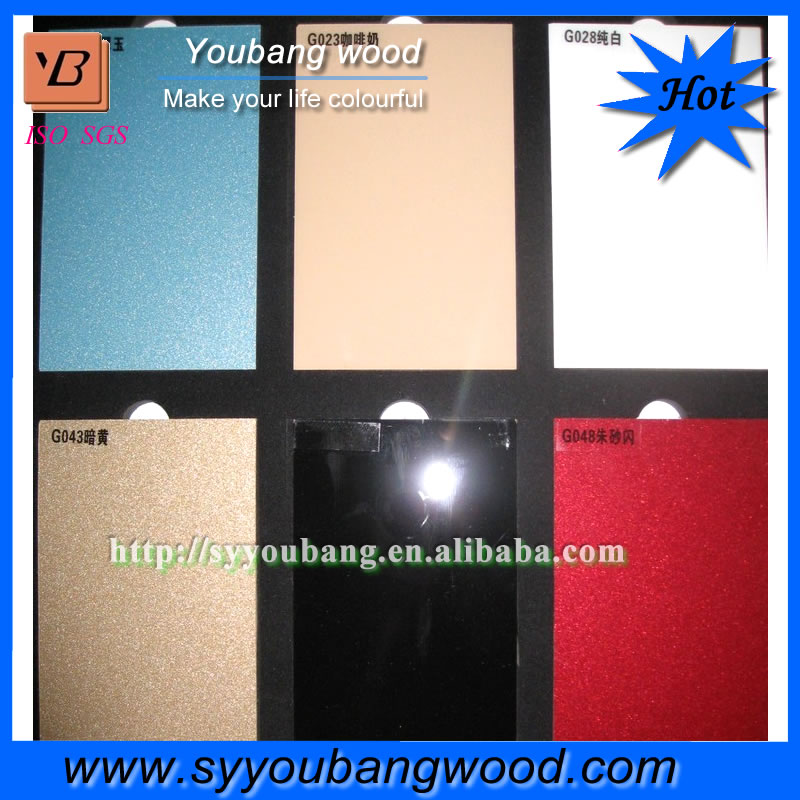 Manufacturer 18mm high gloss wood grain acrylic laminated MDF panel sheet for furniture