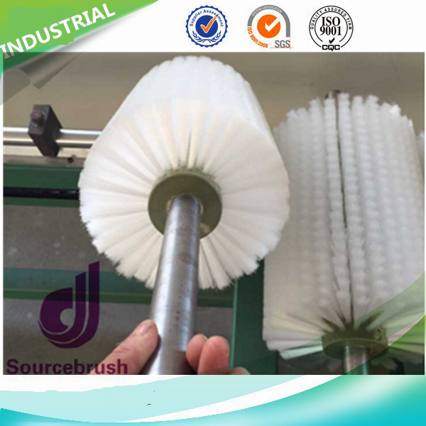 Factory Industrial Solar Panel Glass Clean Nylon Roller Brush Rotary Type