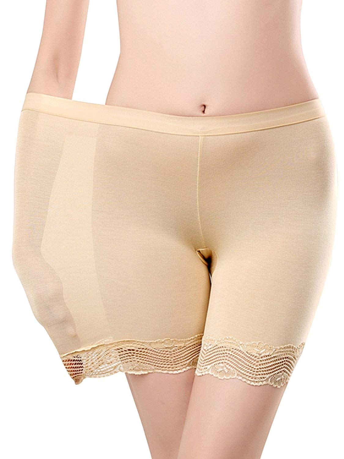 9bb087f227 Get Quotations · MisShow Women Comfortably Smooth Slip Invisibly Underskirt  Half Slip Short Panty