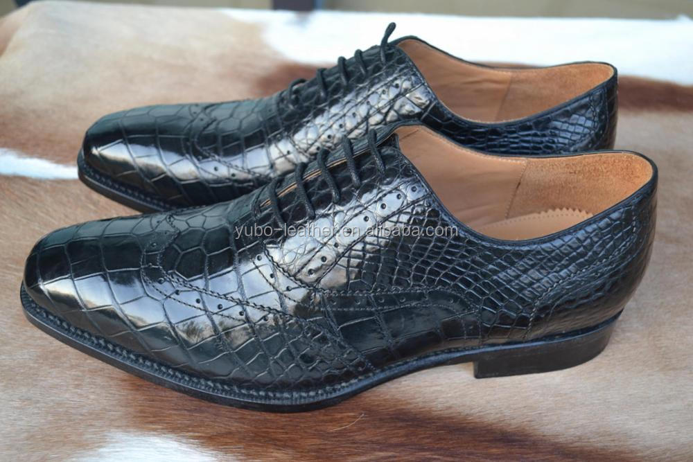 Luxury Crocodile Genuine Leather Men Shoes Genuine Leather Sole Shoes