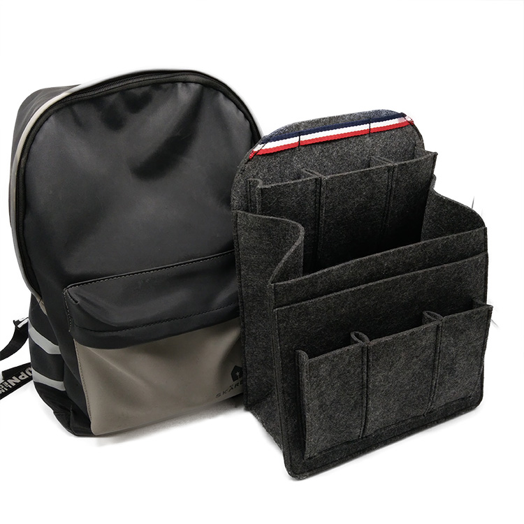 fa770a2ca2a9 Durable And Foldable Ash Felt Organizer Insert Bag Apply Into Backpack  Storage - Buy Backpack Organizer Insert Bag,Felt Gadget Holder,Durable And  ...