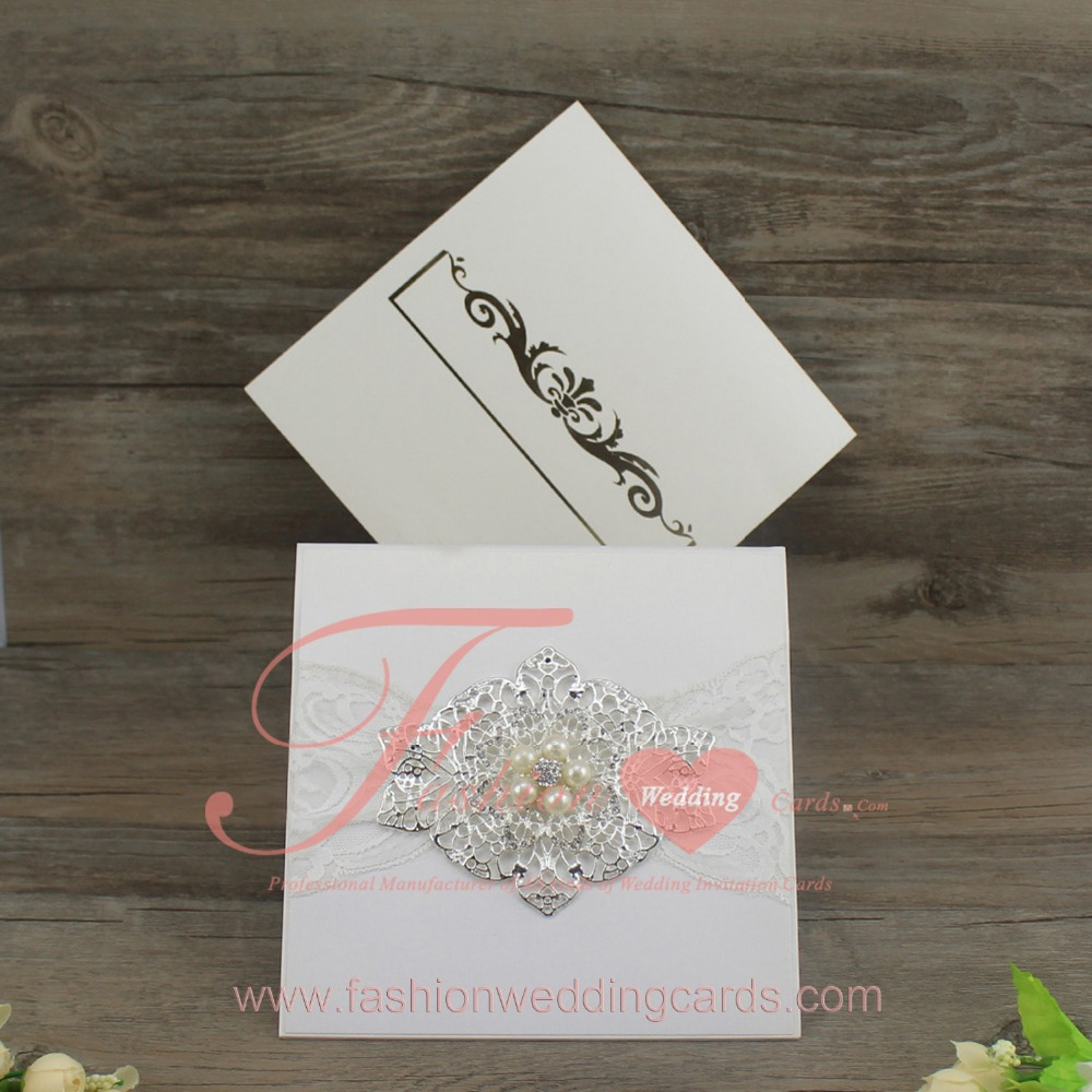 Fashional Extravagant Arabic Style Jeweled Wedding Invitation With Customized Printing Invitations